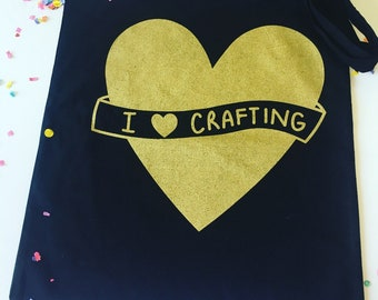 I Love Crafting Tote Bag