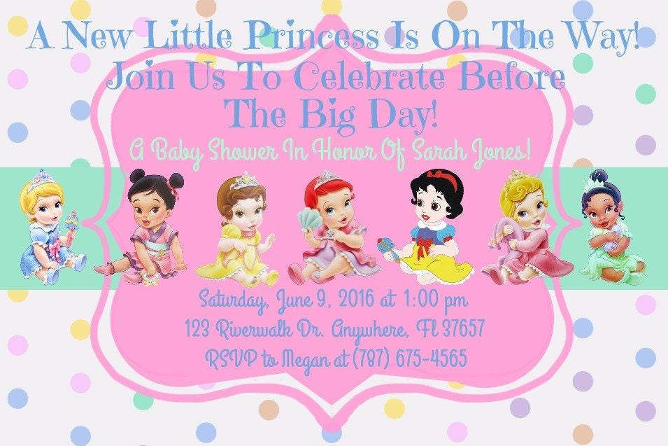 Superb Description. Disney Princess Baby Shower Invitation ...