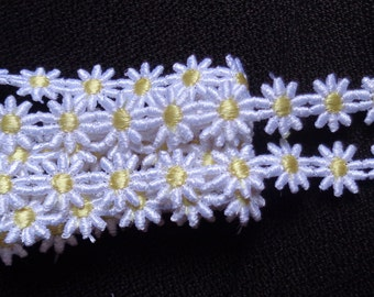 1/2 inch wide daisy trim lace price per yard