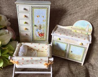 Set of miniature furniture for children's room