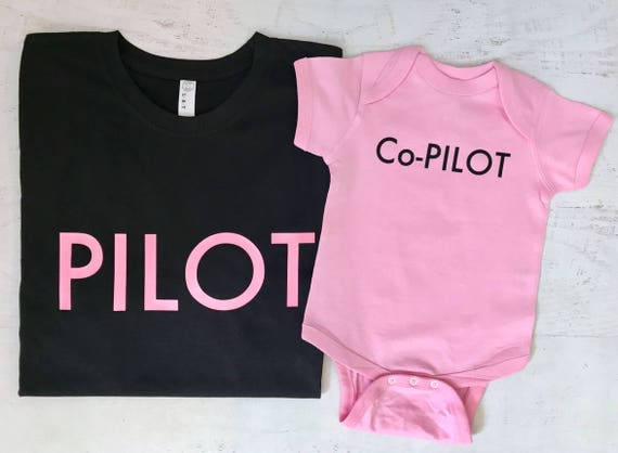 Pilot Co-Pilot set Daddy and Son or Daughter Perfect Fathers Day or New Dad Gift Pick Your Colors
