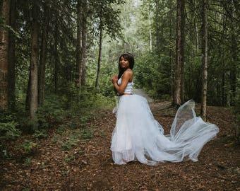 Angelica Lighted Tulle Overskirt // Fairy Light Tulle Skirt // Woodland Fantasy Wedding Skirt