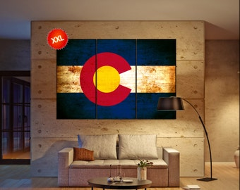 Colorado state flag  canvas Colorado state flag wall decoration Colorado state flag canvas art Colorado state flag large canvas