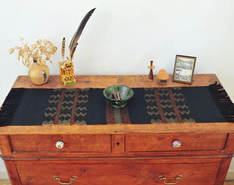 Handwoven table runner/ Loom Work/ Cotton & Linen