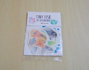 Tiny Fish Stickers 4pk