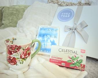 Blanket, Mug, Herbal Tea, and a Book Gift Box