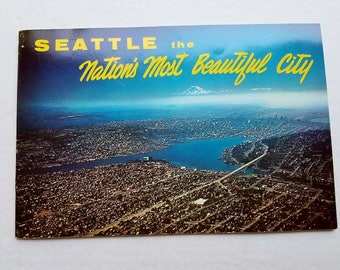 "1961 ""Seattle the Nation's Most Beautiful City"" booklet. Seattle World's Fair. Washington. Northwest history. Ephemera collectibles."