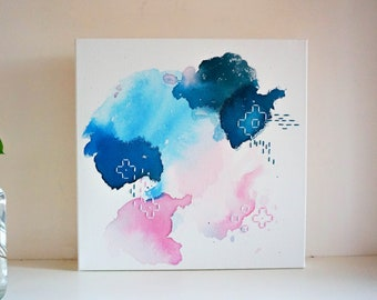 Abstract Canvas Painting - More than Rubies