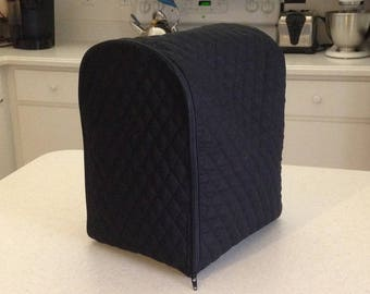 Black Zipper Small Appliance Covers Quilted Fabric Kitchen Zippered Dust Covers Made to Order