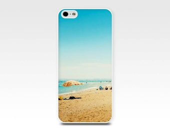 iphone case beach scene iphone 5s case iphone 6 5 4 4s nautical case beach houses photography iphone case fine art beach umbrella summer