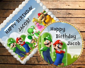 Mario Bros. Edible Cake Topper