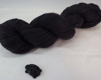 Black Hand Dyed Sock Yarn