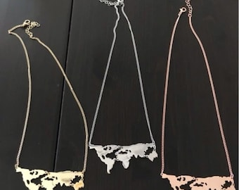 world continent shape traveler necklace