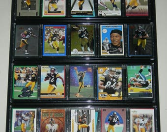 Hines Ward NFL Football Card Lot Framed Wall Display Pittsburgh Steelers