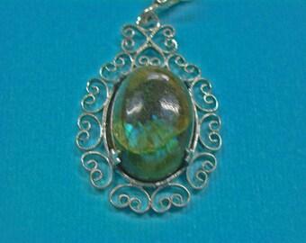 Labradorite Necklace - Lovely Labradorite & Sterling Silver Necklace