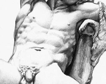 Sleeping Fawn. Print. 30x40 cm.