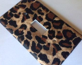 Leopard Light Switch Plate / Leopard Cheetah Print Single Light Switch Plate Cover / Animal Print Decor / Nursery Decor / Home Decor / Room