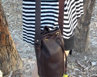 Leather shoulder bag, brown leather tote, casual bag, womens backpack,  large leather bag, real leather bag, womens leather bag, boho bag