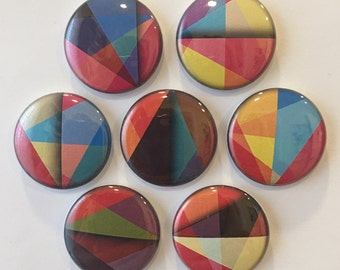 Abstract Art Magnets - set of 7