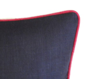 Self welt or contrasting welt or flange added to any pillow - Pillow Upgrade or Contrasting Piping on your pillow