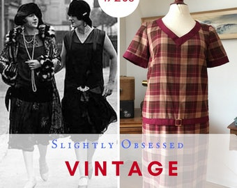 "Reproduction 1920s ""One Hour"" Day dress"