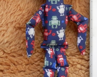 ALIEN DOLL Robot fabric with Mustache
