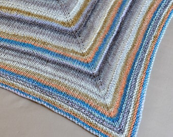 Multicolored Shawl Scarf Triangular Wrap