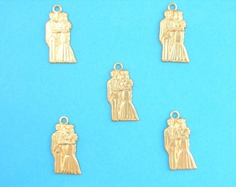 LOT 5 METALS CHARMS Gold: married 18 mm