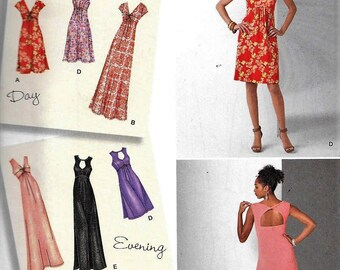 Simplicity 1612 Knit Evening Dress Designer's Inspiration Sewing Pattern UNCUT Plus Size 20, 22, 24, 26, 28