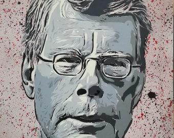 Stephen king  Spray Paint on Canvas