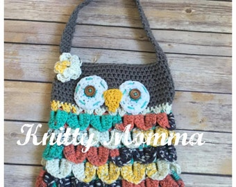 Owl Handbag Crochet Pattern Owl Purse Crochet Pattern