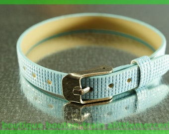 Leather Bracelet checkered N5 low glitter Pearl width 8 mm