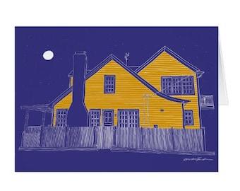 Eastport Full Moon - Note Cards