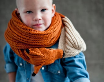 Child's Red Fox Scarf- Funny gift for children