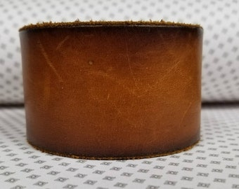 Jkleathers brown leather cuff hand stamped optional wear your story bracelet custom personalized