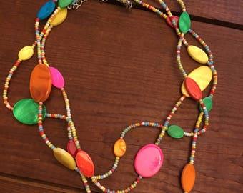 fun beaded necklace