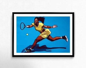 Serena Williams Vector Print
