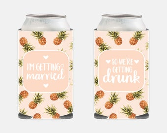 Pineapple Bachelorette Party Favors Pink Bachelorette Favors Pineapple Wedding Can Coolers Wedding Party Favors Beach Tropical Favors Cute