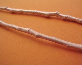 twig sterling silver raw cast twig long silver twig UT001-2