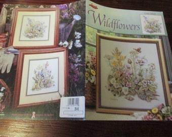Lanarte Counted Cross Stitch Pattern Wildflowers Leisure Arts 3545 Counted Cross Stitch Leaflet
