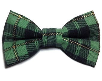 Bow Tie For Cats / Preppy Bow Tie / Green Cat Bow Tie / Small Dog Bow Tie / Holiday Bow Tie