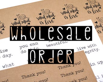 WHOLESALE sticker order | 20+ sheets of STOCK labels | stock up and save up to 40%