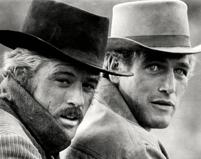"""Paul Newman and Robert Redford in the film """"Butch Cassidy & the Sundance Kid"""" - 8X10 Photo (ZZ-489)"""