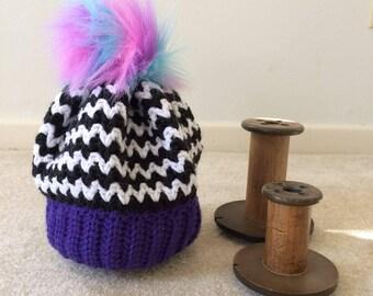 Rebel Fairy hat. Handmade crochet hat
