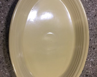 "13"" Oval Serving Platter Fiesta Ware Yellow"