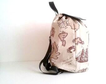 Travel Canvas Backpack, Rucksack, Travel Bag, World Map Bag, Hipster Backpack, Diaper Bag, Boho Bag, Baby shower Gift, Back To School Gift,