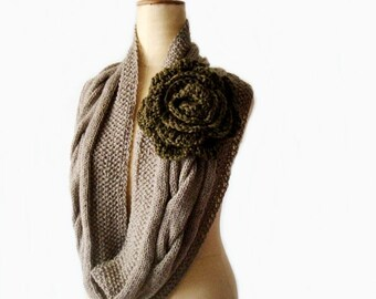 Knit Cowl Pattern Cabled Infinity Scarf Pattern Knit Circle Scarf Pattern 218