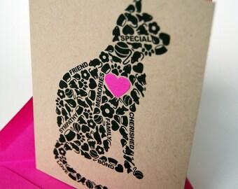 Cat Sympathy Card, Loss of Cat Card, Pet Sympathy Card