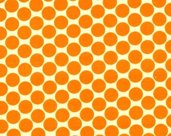 Amy Butler Lotus -- FULL MOON POLKA DOT, Tangerine --FREE SHIPPING--