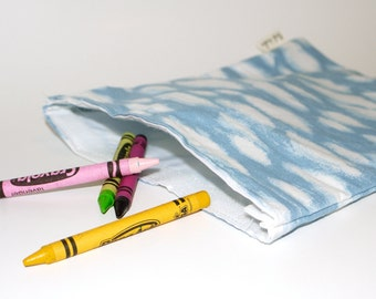 Eco Friendly Lunch Bag--large size.  Recycled Fabric. Ready to Ship.